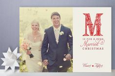 First Christmas cards! Have a very Married Christmas!