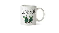Olive you mug, couples gift ideas, boyfriend gift ideas, girlfriend gift ideas, Funny mug, office gift, christmas gift ideas for office, bff gift, cheap christmas ideas,cheap present ideas, punny mugs