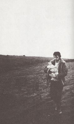 Paul and baby Mary McCartney. Mull of Kintyre, Scotland. 1969. Photograph by Linda McCartney.