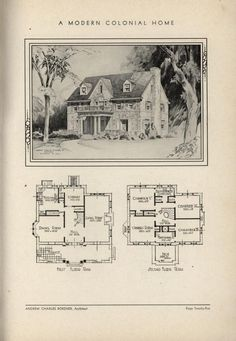 Colonial Home by Architect Andrew Charles Borzner.  The book of beautiful homes. by Andrew C. Borzner  Published 1932  BookReaderImages.php (607×878)