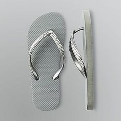 Women s Metallic Mesh Flip Flops Shoes Heels Boots, Grey Fashion, Fashion Shoes, What's My Favorite Color, Bling Sandals, Metallic Colors, Wedge Boots, Carrie Bradshaw, Shabby Chic