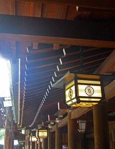 Meiji Jingu temple lamps - Tokyo, Japan