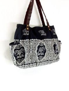 bb69dd87ebbd Women bag Handbags Cotton bag Elephant bag Hippie by veradashop