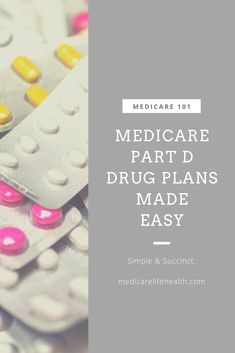 A simple and to the point overview of Medicare Part D that will help you make decisions on your health plan and prescription drug coverage. How To Get Rich, Health Insurance, Frugal, Make It Simple, Budgeting, Health Care, Money, Group, How To Plan