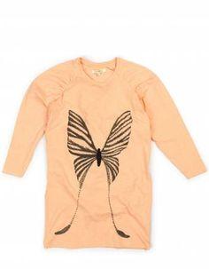 Soft Gallery Carla abrikos kjole med sommerfugle print - 240 lille figaro