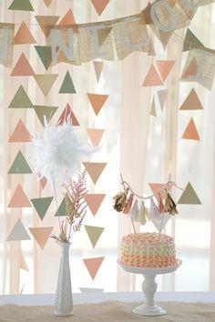 Triangle décor