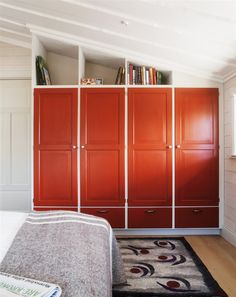 Storage up above the cupboards and painting them - would make our bedroom cupboard look much better