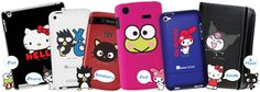 Sanrio's new custom gadget cases: Choose your gadget, color case & type, character, & add customized text.