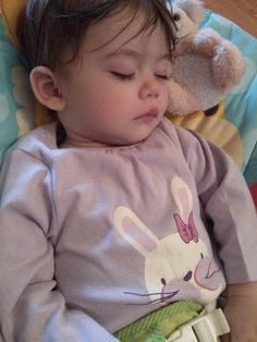 sleeping in baby gro http://thisdayilove.blogspot.co.uk/2013/03/review-vertbaudet-baby-girl-happy-price.html