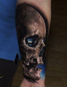 Badass Realistic Skull Tattoos Designs