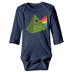 ALEXBY Babys Pepe 2016 Frog Pyramid Long Sleeve Bodysuit Outfits - Brought to you by Avarsha.com