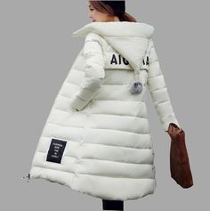 4d7ce41f49f7 Women Hooded Thicken Cotton-Padded Long Wadded Jacket Down Coat