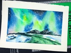 Watercolour Tutorial – Northern Lights – Emily Sun- All Things Creative