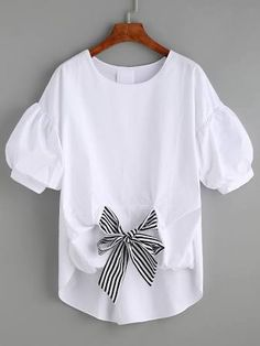 bow front blouse - Google Search