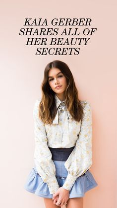 We already know what you're thinking—and we get it. What beauty tips could there possibly be to take away from Kaia Gerber? Beauty Secrets, Beauty Hacks, Korean Beauty Tips, Marc Jacobs Daisy, Lots Of Makeup, You Look Beautiful, Kaia Gerber, Clean Face, New Skin