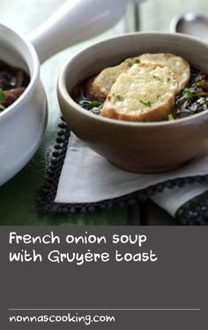 Packed with the best exports - brandy, red wine, garlic, butter and cheese - James Martin's easy recipe for French onion soup redefines luxury. Best Soup Recipes, Garlic Recipes, Onion Recipes, Roast Recipes, Cheese Recipes, Wine Recipes, Best Roast Recipe, Brandy Recipe
