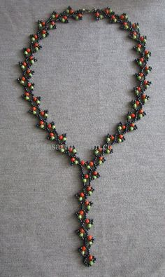 Creeper Halskette machen - Jewelry making - Diy Room Decor Seed Bead Necklace, Seed Bead Jewelry, Bead Jewellery, Beaded Jewelry, Handmade Jewelry, Beaded Necklace, Beaded Bracelets, Branch Necklace, Necklaces