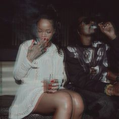Rihanna smoking edit
