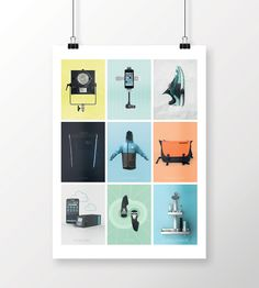 portfolio poster on Behance