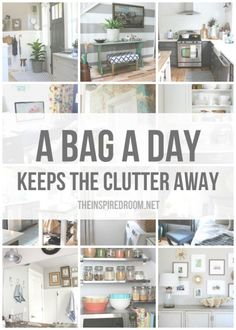 I love this plan. See if there's a printout on her blog.  Twelve Months of Organizing - A Bag A Day