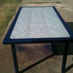 Welded tile top table