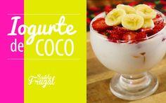 Iogurte de Coco Natural c/ MORANGO, MANGA E BANANA - Saúde Frugal