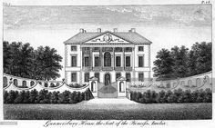 'Gunnersbury House, the Seat of Princess Amelia'. Gunnersbury House is a Palladian mansion designed in the mid 17th century by John Webb, son-in-law and pupil of Inigo Jones. It was built for Sir John Maynard, a lawyer and politician. The house was acquired in 1760 for Princess Amelia, the second daughter of King George II.