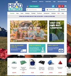 E-commerce website for Head Outside great client to work for. www.bravethinking.co.uk My Account Settings, Summer Is Here, Campsite, Ecommerce, Brave, Tent, The Outsiders, This Is Us, Branding