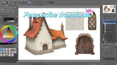 Krita tutorial: How to use the perspective transform mode