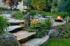 Large backyard landscaping ideas are quite many. However, for you to achieve the best landscaping for a large backyard you need to have a good design. Landscaping With Rocks, Front Yard Landscaping, Backyard Patio, Backyard Landscaping, Landscaping Ideas, Backyard Ideas, Landscape Plans, Landscape Design, Garden Design