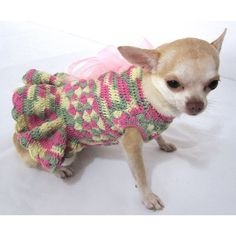 Petit chien robe Fashion Ruffle mariage Chihuahua par myknitt