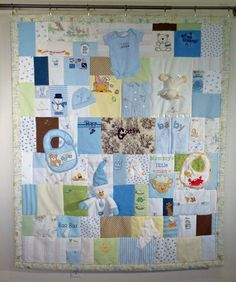 Baby Clothes Quilt - http://www.jellybeanquilts.com