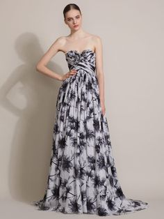 50'S Inspired Floral Gown