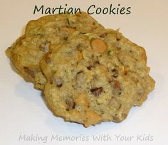 Zucchini Oatmeal Chocolate and Butterscotch Cookies (AKA Martian Cookies)