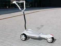 MUV-e all-electric scooter folds up for easy storage and carriage