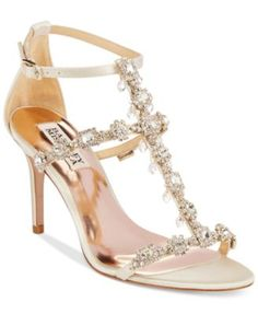 Badgley Mischka Cascade  Evening Sandals $157.50 Elegant style that will strengthen the look of anything from a simple cocktail dress to an evening gown. The Cascade sandals by Badgley Mischka.
