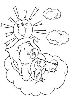 61 The Care Bears printable coloring pages for kids. Find on coloring-book thousands of coloring pages. Bear Coloring Pages, Coloring Sheets For Kids, Cool Coloring Pages, Cartoon Coloring Pages, Disney Coloring Pages, Free Printable Coloring Pages, Coloring Pages For Kids, Coloring Books, Kids Coloring