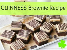Guinness beer brownie recipe and more easy St. Yummy Recipes, Delicious Desserts, Dessert Recipes, Yummy Food, Blarney Stone, Mary Berry, Sugar Rush, Brownie Recipes, St Patricks Day