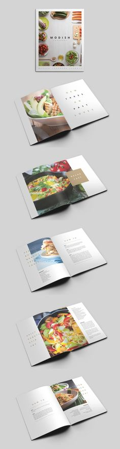 MoDish - A Modern Cookbook Template. Compatible with: Adobe InDesign. File Type: INDD. File Size: 7.25 MB. DPI: 300. Layered. Modern Cookbooks, Vintage Cookbooks, Indesign Templates, Adobe Indesign, Cookbook Template, File Size, Family Meals, Type, Projects