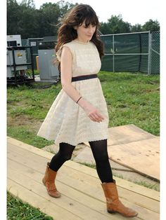 Zooey Deschanel Style Pictures - Zooey Deschanel Street Style  You can do it too