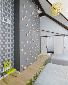 """""""An old church in Chicago becomes a family #home with the coolest kids #bedroom…"""