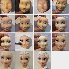 Эльза учебник Vi ♥ Эльза лицо учебник | Эльза учебник Viso ♥ Elsa лицо учебник