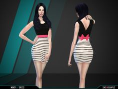 Stand alone short dress for female Sims. Enjoy! Found in TSR Category 'Sims 4 Female Everyday'