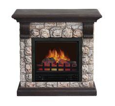 Rustic Rock Electric Fireplace at Menards   Fireplaces   Pinterest