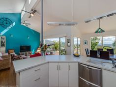 Raked ceilings 'J'-shaped kitchen, Led lighting, polished floors - Modern Character? 154 Cahill Place, Acton Park, Tas 7170