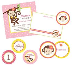 Hostess with the Mostess® - Monkey Love Birthday Party