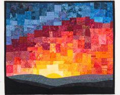 Sunset Art Wall Quilt Mosaic