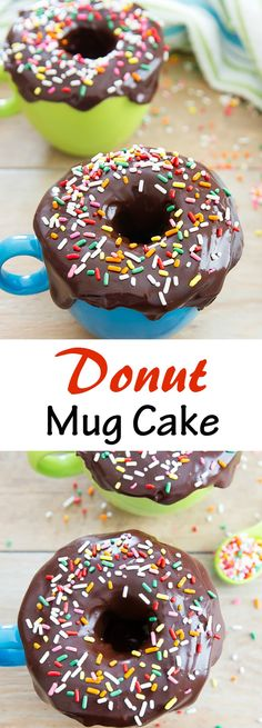 Donut Mug Cake. Tastes like old fashioned donuts or donut muffins and ready in just a few minutes!