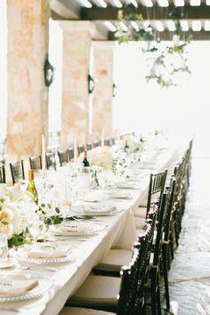 Elegance: http://www.stylemepretty.com/2015/03/25/malibu-mountaintop-vineyard-wedding/   Photography: Onelove - http://www.onelove-photo.com/