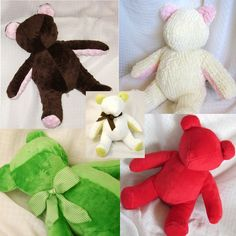A fun and delightful, vintage styled pattern, this bear will be loved by all whom you make a bear a gift for.  Also perfect for creating your own Memory